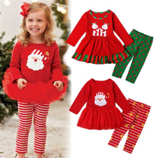pajamaset, kids clothes, Christmas, santaclauspattern