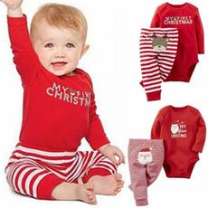 Christmas, Sleeve, babyboysclothingset, Long sleeved