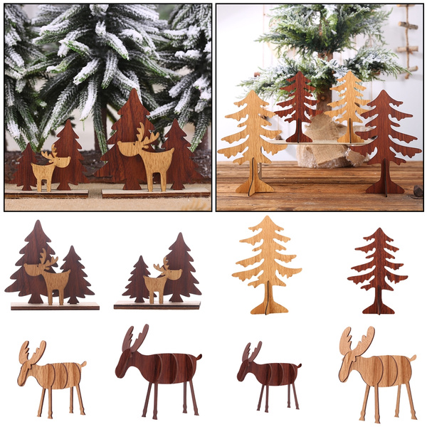 Favors DIY Wooden Ornaments Furnishing Frticles Christmas Decoration Home Decor
