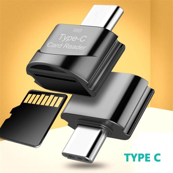 Mini Type C Micro SD TF Memory Card Reader OTG Adapter USB 3.1 Portable