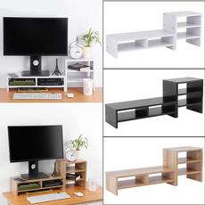 monitorstand, desktopdock, computermonitorriser, Wooden