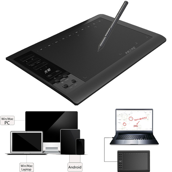 New Fashion High Quality Digital Plate Intelligent Electronic Hand Painted Wacom Drawing Board Graphics Tablet Lcd Drawing Tablet Support For Ios Android Windows Wish