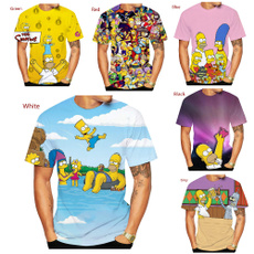 Summer, simpsontshirt, cartoonfunny3dprinttshirt, Funny