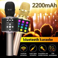 handheldmicrophone, bluetoothmicrophone, Microphone, led