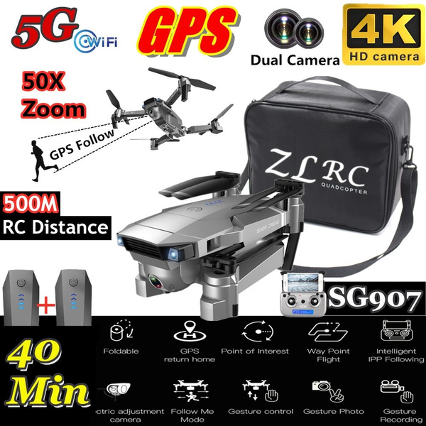 Best Gps 2020.Sg907 2020 Newest Top Technology Gps Drone With Hd Cameras 5g Wifi 4k Hd Camera Dual Camera Switching 50x Zoom Gps Positioning Gps Follow Real Time