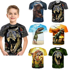 Summer, Fashion, kids clothes, dinosaurtshirt