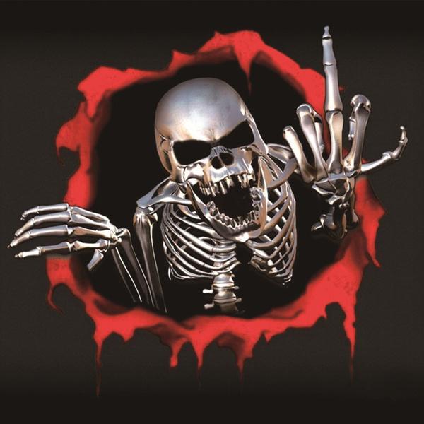 Red Skeleton Decal Sticker
