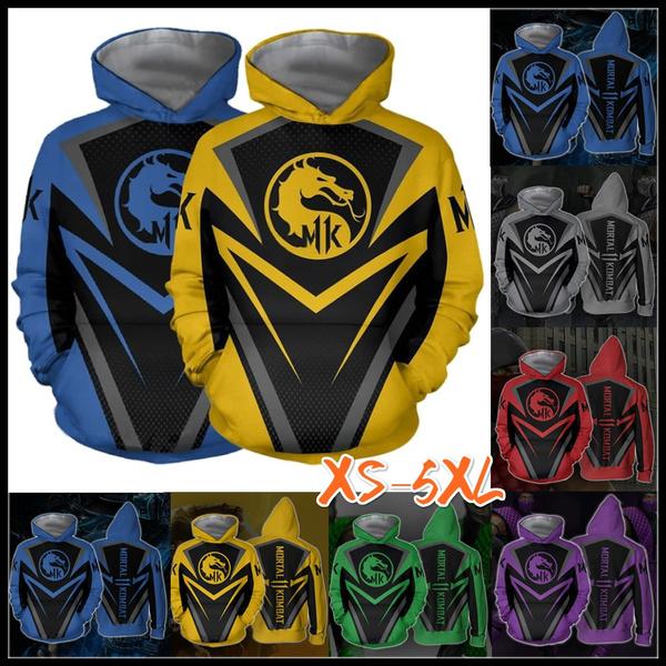 New 3d Print Pullover Hoodies Hot Fight Game Mortal Kombat 11