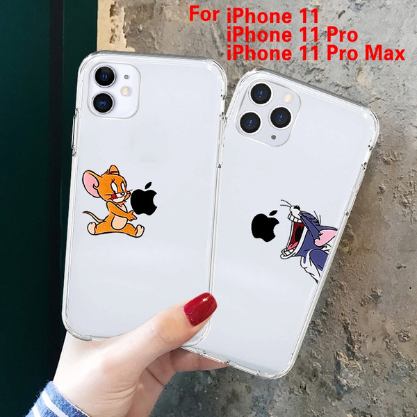Funny Cartoon Phone Case for iPhone 11 11 Pro 11 Pro Max X XS Max XR Cute  Cat Mouse Case for iPhone 8 7 6S Transparent Silicone Soft Case Plus