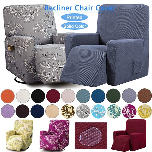 Recliner Chair Cover With Side Pocket