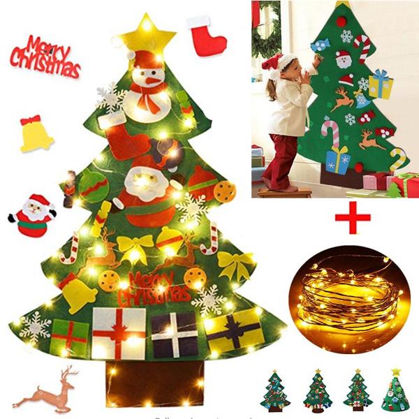 Home & Kitchen, lights, feltchristmastree, Christmas