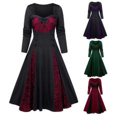 bowknot, Plus Size, Lace, A-line