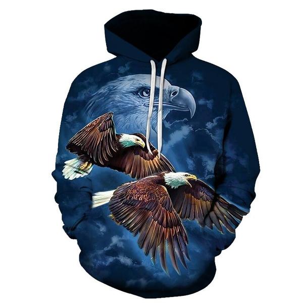 Eagle 3D Hoodies Anime 3D Printed Sweatshirt Hooded Animal Clothing Casual Sweatshirts