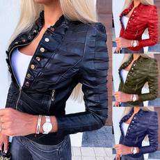 motorcyclejacket, Fashion, minijacket, Long Sleeve