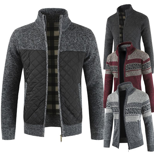 New Mens Black Long Sleeves Knitted Cardigan Coat Outwear Casual Sweater Jackets
