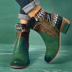 ankle boots, Booties, leather, boots for women