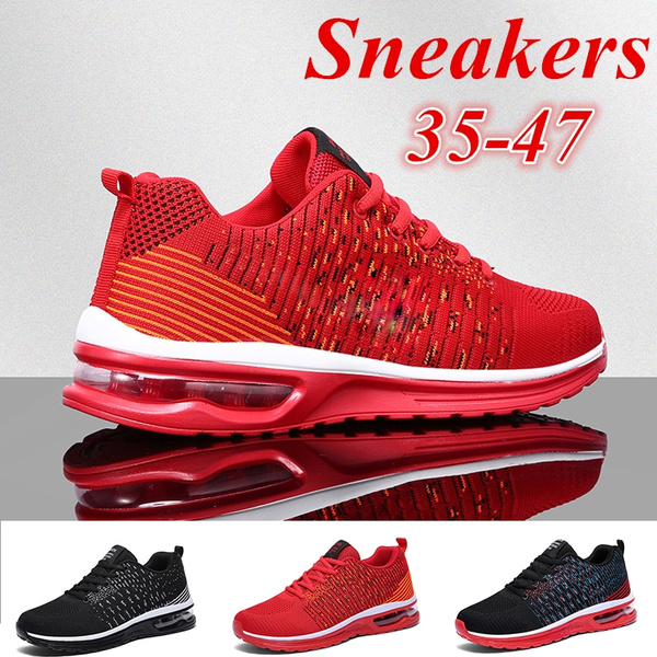 Men//Women Air Cushion Shoes Running Breathable Outdoor Sport Tennis Sneakers