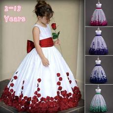 Flowers, Princess, long dress, Tea