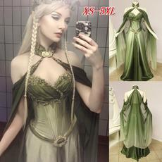 Fashion, Medieval, chiffon, long dress