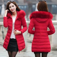 hooded, fur, Fashion, Long Sleeve