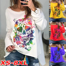 women pullover, off shoulder top, Plus Size, Long Sleeve