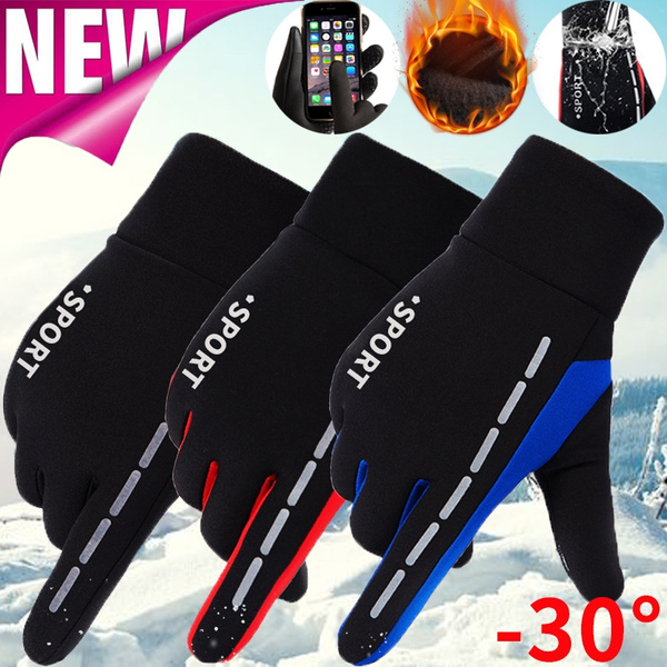 Women Men Winter Warm Touch Screen Windproof Outdoor Sport Ski Driving Gloves