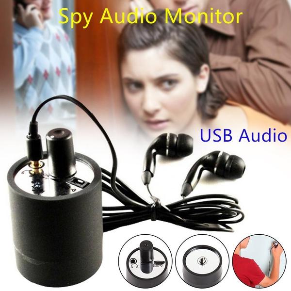 Through Wall Ear Listen Device USB Audio Monitor Bug Eavesdropping Microphone