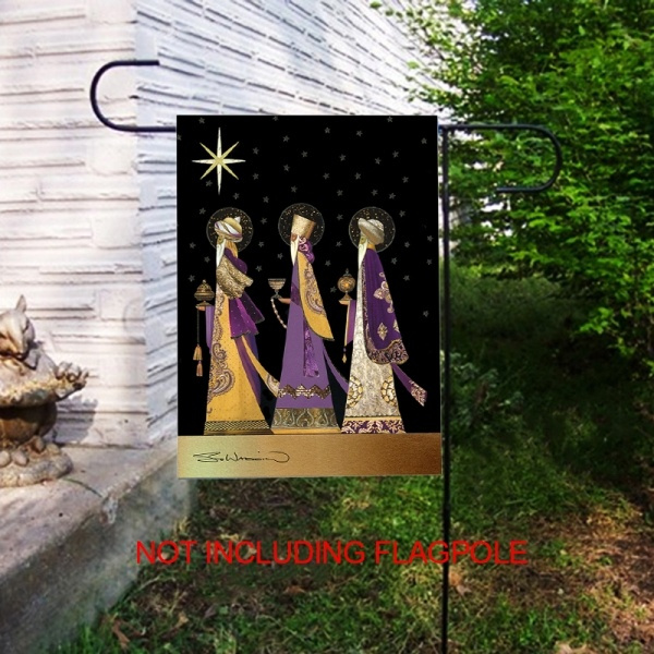12 X 18 Three Kings Gold Star Wise Men Christmas House Garden Flag Yard Banner
