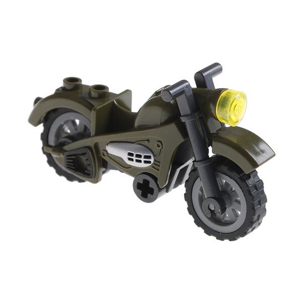Field war mini 2 rounds arms motorcycle model compatible legoinglys building  ES