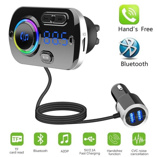 KFZ Bluetooth FM Transmitter MP3-Player Auto Freisprecheinrichtung TF Adapter