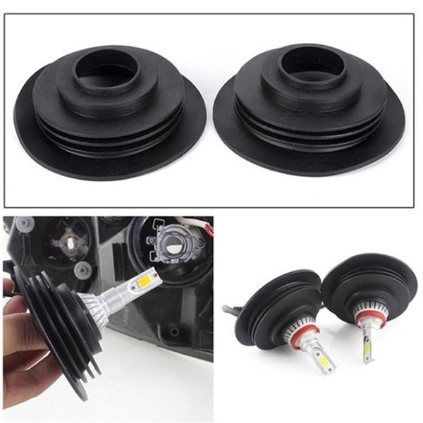 Soft Rubber Dust Cover For Car Auto Headlight Universal LED Light Seal Cap GA