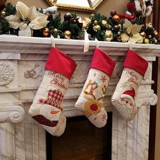 christmasstocking, Christmas, Wedding Supplies, 3dplushlinenhangingtagknitborder