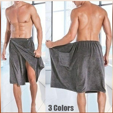 Pocket, Men, Towels, bathwrap