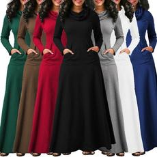 party, Plus Size, Autumn Dress, Sleeve
