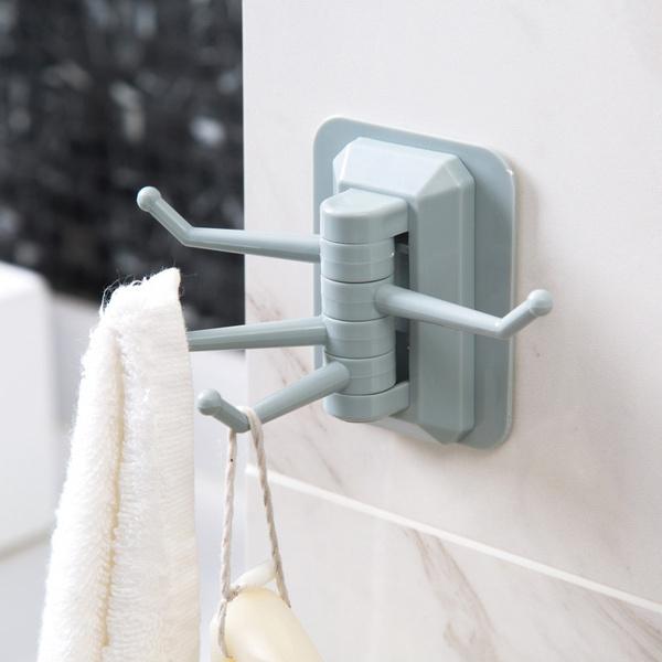 Rotating Bathroom Hooks Strong Adhesive