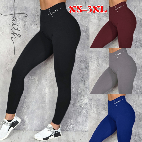 yoga pants, letter print, Fitness, high waisted