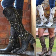 vintageboot, knee, Plus Size, Leather Boots