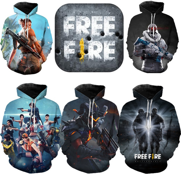 2019 Shooting Game Free Fire 3d Printed Hooded Sweater Men And Women Winter Warm Casual Sweater Cool Street Wear