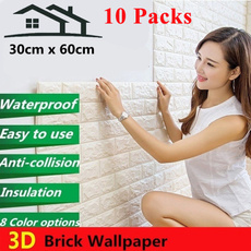 decoration, 3dbrickwallpaper, Foam, Home