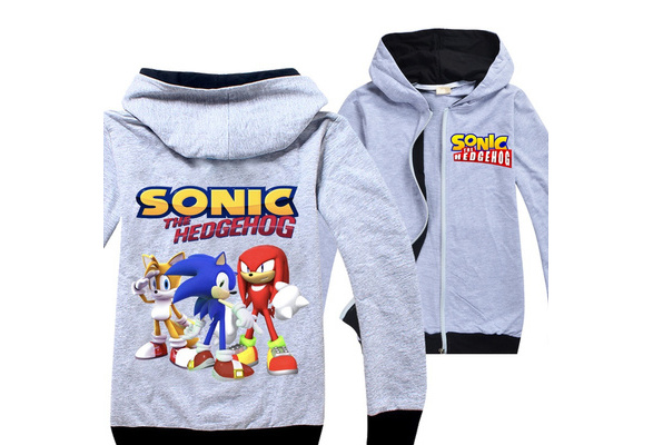 Sonic The Hedgehog Cartoon Printed Cool Zipper Hoodies Coat For Children Boys Girls 6 14 Years Old Wish