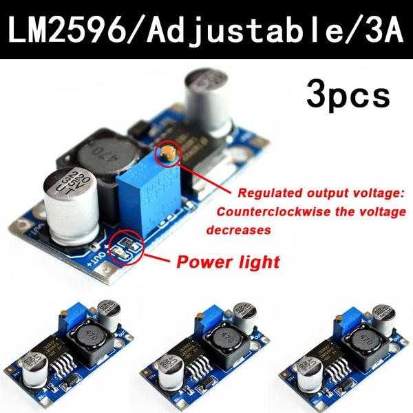 3A 3V-40V to 1.5V-35V LM2596S DC-DC Power Source Buck Converter Step Down Module