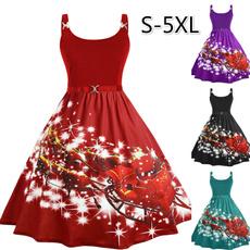 Slimwaist, slim dress, Christmas, Plus Size