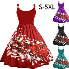 Slimwaist, slim dress, Christmas, Plus Size