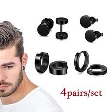 Stainless Steel, Stud Earring, femaleearring, dumbbellearring