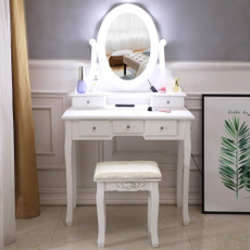 wooddesk, dressingtablestool, makeupdesk, Beauty