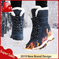 furboot, Plus Size, Winter, Waterproof