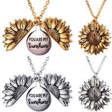 women39sfashion, Jewelry, Sunflowers, sunflowernecklace