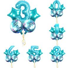 Blues, decoration, foilballoon, birthdayballoon