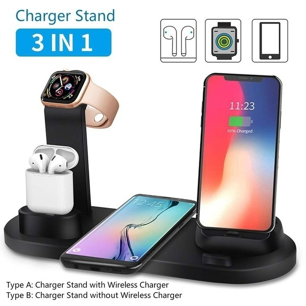 FDGAO 3 In 1 Portable Charger Stand Multi Function Usb