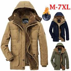 Fleece, Overcoat, Winter, Men